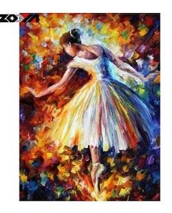 Diamanttavla (R) Painted Ballerina 30x40