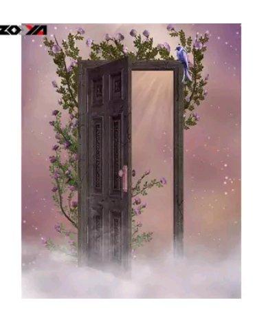 Diamanttavla (R) Heavenly Door  40x50