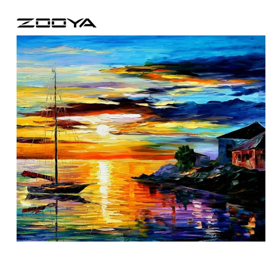 Diamanttavla (R) Diamanttavla Sea Sunset 30x40