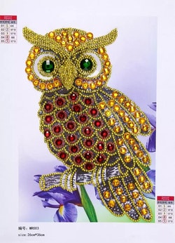 Diamanttavla Special Owl 20x30
