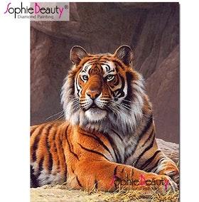 Diamanttavla (R) Tiger I Grotta 40x50