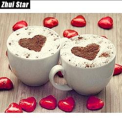 Diamanttavla Heart Coffee 40x50