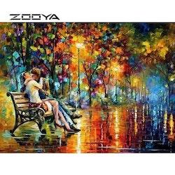 Diamanttavla (R) Lovers In Colors 40x50