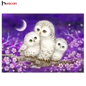 SNART I BUTIK - Diamanttavla(R)Lowely Owls 40x50