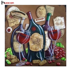 Diamanttavla (R) Wine Curve 50x50