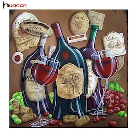 Diamanttavla (R) Wine Curve 40x40