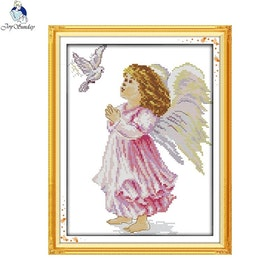 Korsstygnsbroderi The Angel Of Peace 29x39