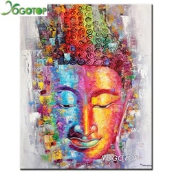 Diamanttavla Buddha Color 40x50