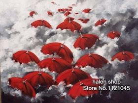Diamanttavla Umbrellas In The Sky 40x50