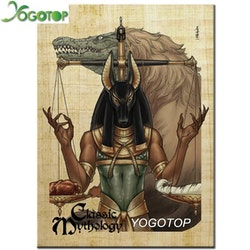 Diamanttavla Egypt Anubis 40x50