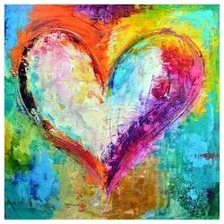 Diamanttavla Color Heart 30x30