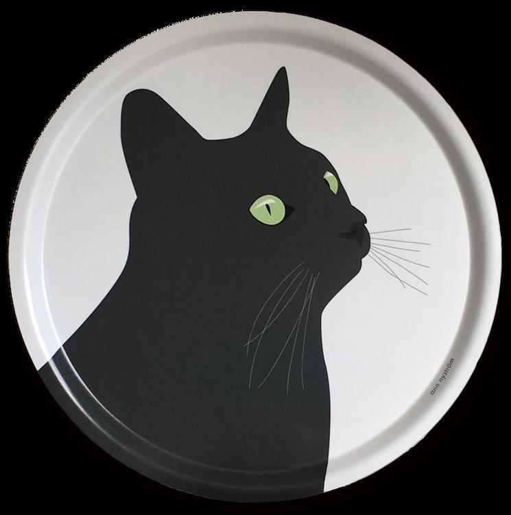 Bricka Svarta Katten 39 cm, 4 st