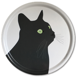 Bricka Svarta Katten 39 cm, 2 st