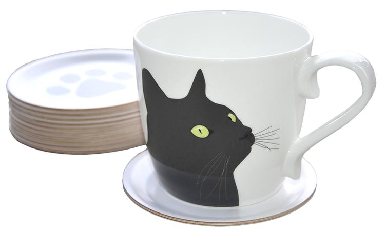 Mugg Svarta Katten 6 st