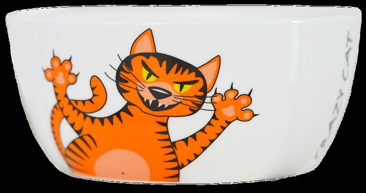 Skål Crazy Cat 6 st