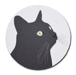 Coaster Svarta Katten - 4 st/set, 4 frp