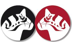 Coaster Dalahäst - 2 svarta + 2 röda/set