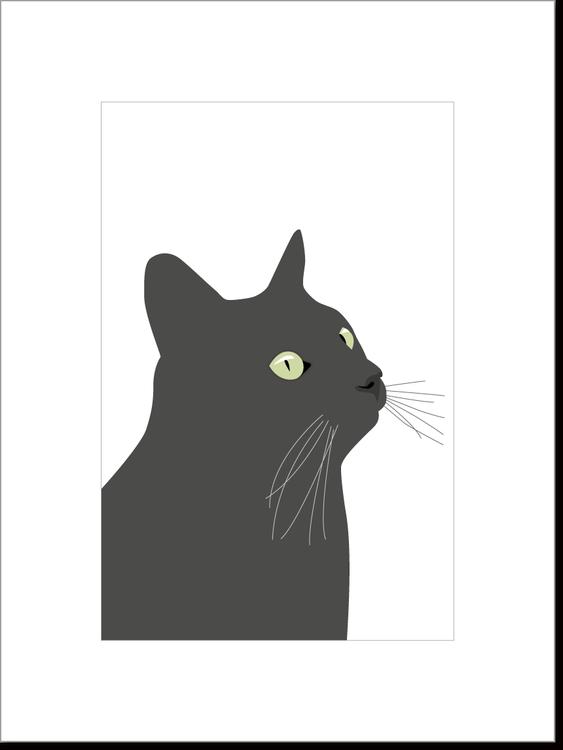 Poster Svarta Katten 2 st