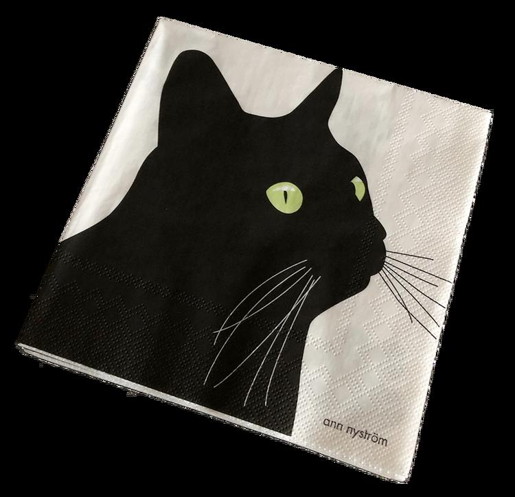 Servett Svarta Katten 12 paket