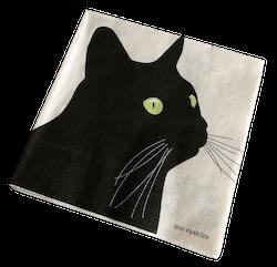 Servett Svarta Katten 12 st
