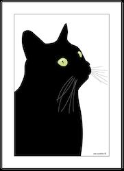 Kökshandduk Svarta Katten 6 st