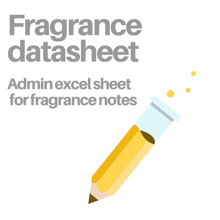 Fragrance Excel sheet for perfume creators. Digital delivery.