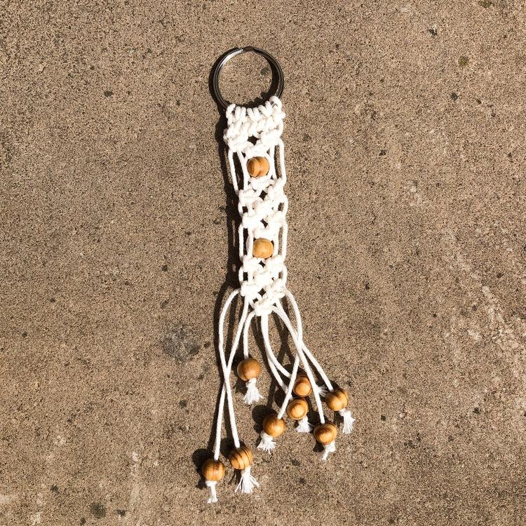 Nyckelring Makramé