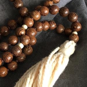 Wooden white mala