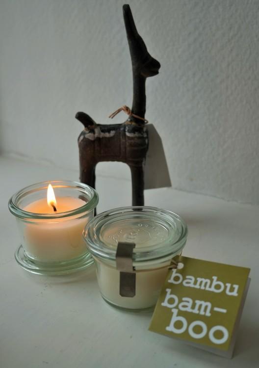 Doftljus 100% sojavax BAMBU