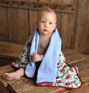 Babyfilt i dalastil
