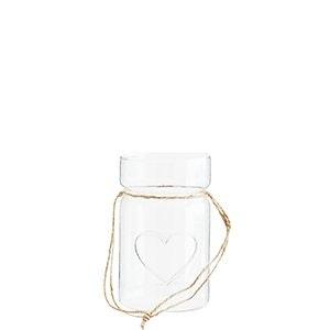 Ljuslykta glas med hjärta
