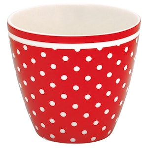 Lattemugg SPOT red