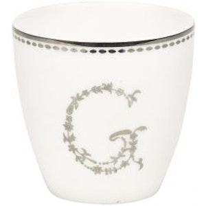 Lattemugg - liten G silver