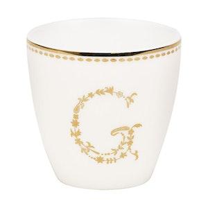Lattemugg - liten G gold