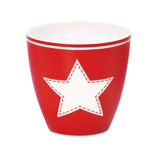 Lattemugg - liten STAR red