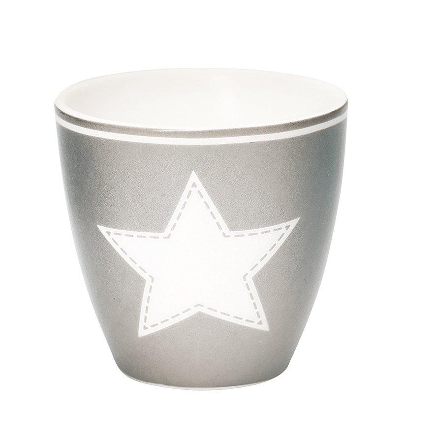 Lattemugg - liten STAR warm grey