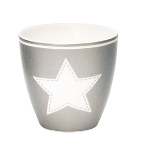 Lattemugg - liten STAR warm grey