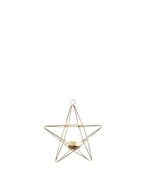 Hängande värmeljushållare stjärna antik mässing