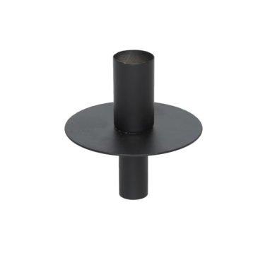 Ljushållare i svart metall till flaska