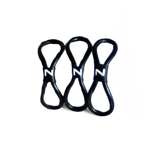 Zipholder svart 3-pack