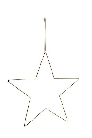 Stjärna i antikmässing