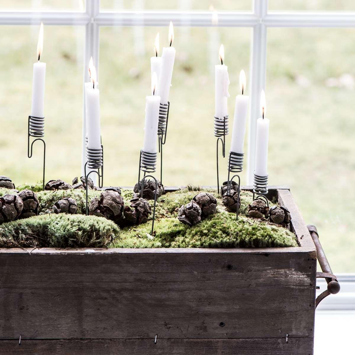 Ljushållare för julgransljus zink