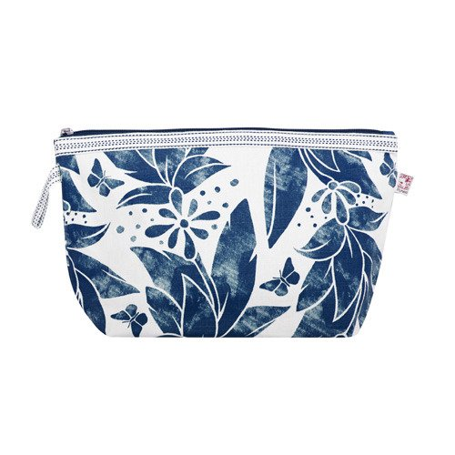 Shyness Necessär Butterfly L Vit/Blå- Cosmetic case Butterfly L Blue/Grey