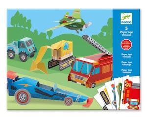 DJECO Origami Paper toys bilar
