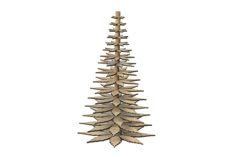 Bell träjulgran i trä/antikvit