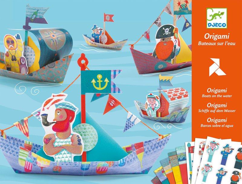 DJECO Origami Flytande båtar  Floating Boats