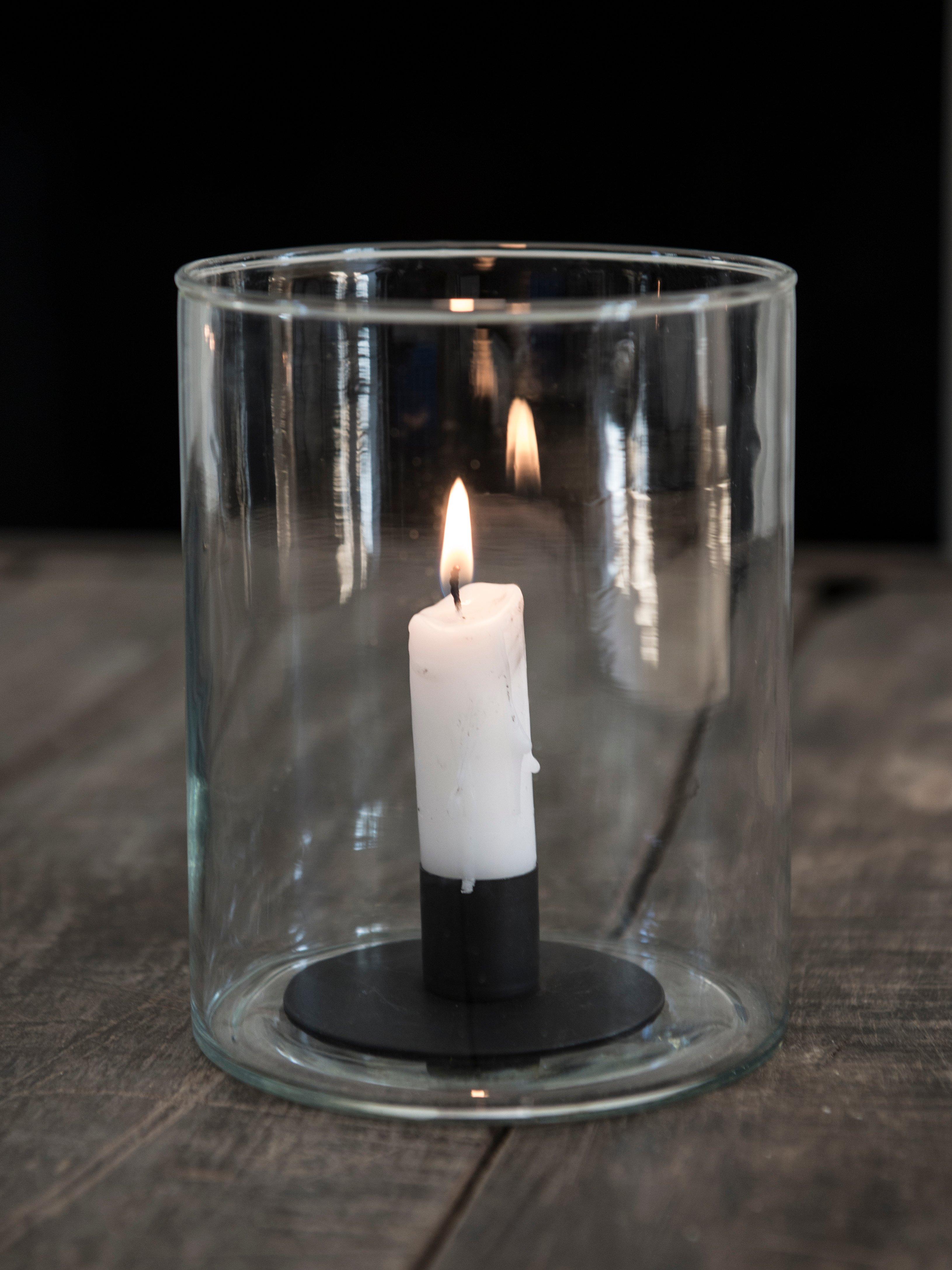 Ljusstake rund lyktinsats för stearinljus