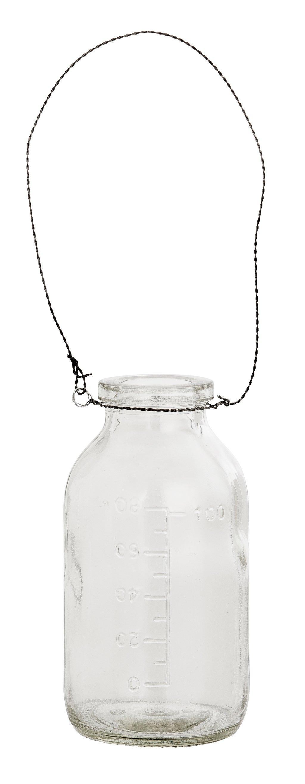 Glasflaska med upphängning