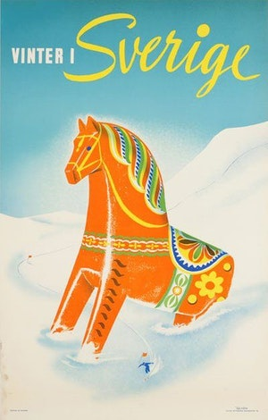 Affisch: Vinter i Sverige