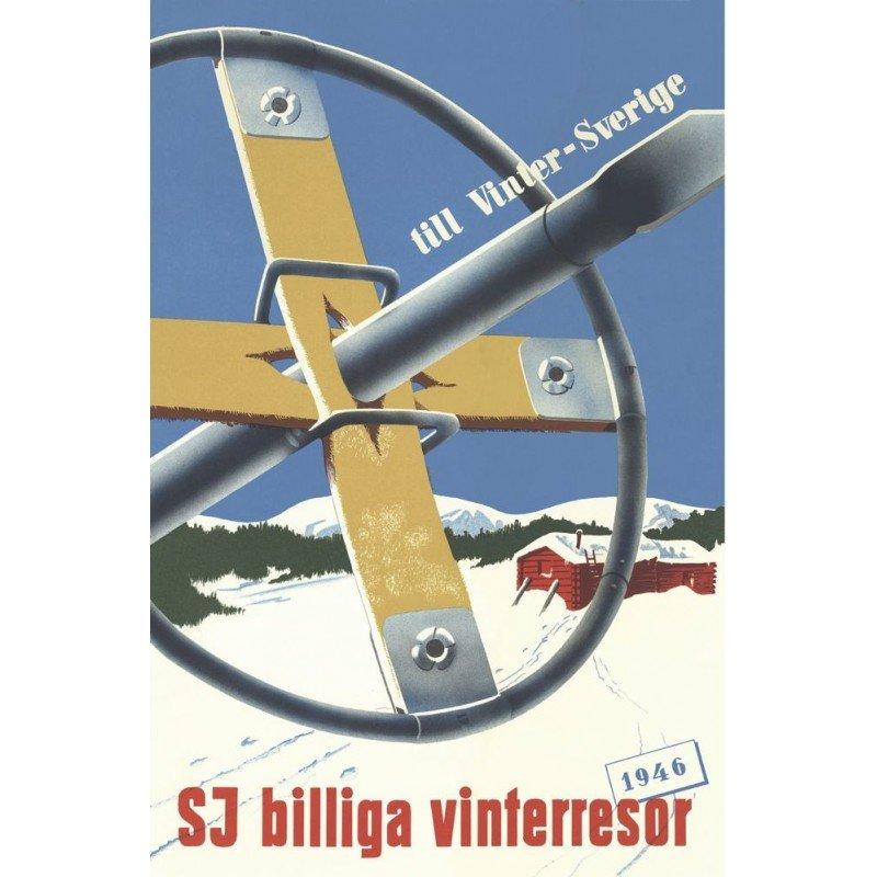 Affisch: Truga till vintersverige